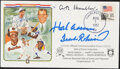 Autographs:Others, 1982 Baseball Hall of Fame Class Signed First Day Cover. ...