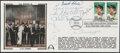 Autographs:Others, 1995 Baseball Legends Multi-Signed First Day Cover - Ripke...
