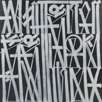 RETNA (b. 1979) White Noise, 2016 Acrylic on canvas 60 x 60 inches (152.4 x 152.4 cm) Signed