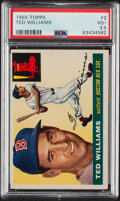 Baseball Cards:Singles (1950-1959), 1955 Topps Ted Williams #2 PSA VG+ 3.5. The Kid in...