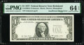 Error Notes:Missing Third Printing, Missing Third Printing Error Fr. 1909-E $1 1977 Federal Reserve Note. PMG Choice Uncirculated 64 EPQ.. ...