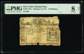 Colonial Notes:New York, New York February 16, 1771 10s PMG Very Good 8 Net.. ...
