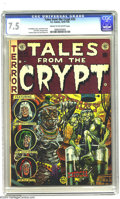 Golden Age (1938-1955):Horror, Tales From the Crypt #33 (EC, 1952) CGC VF- 7.5 Cream to off-whitepages. Origin of the Crypt Keeper. Jack Davis, George Eva...