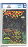 Golden Age (1938-1955):Horror, Uncanny Tales #27 White Mountain pedigree (Atlas, 1954) CGC VF- 7.5Off-white to white pages. Ross Andru art. Overstreet 200...
