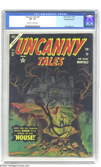 Uncanny Tales #27 White Mountain pedigree (Atlas, 1954) CGC VF- 7.5 Off-white to white pages. Ross Andru art. Overstreet...