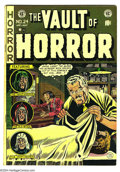 Golden Age (1938-1955):Horror, Vault of Horror #24 (EC, 1952) Condition: FN+. Johnny Craig cover.Overstreet 2003 FN 6.0 value = $105....