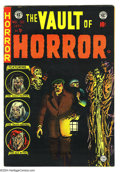 Golden Age (1938-1955):Horror, Vault of Horror #38 (EC, 1954) Condition: FN-. Johnny Craig cover.Overstreet 2003 FN 6.0 value = $81....
