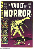 Golden Age (1938-1955):Horror, Vault of Horror #40 (EC, 1954) Condition: FN. Last issue. JohnnyCraig cover. Overstreet 2003 FN 6.0 value = $105....