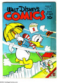 Golden Age (1938-1955):Funny Animal, Walt Disney's Comics and Stories #42 (Dell, 1944) Condition: VG+.Carl Barks art. Overstreet 2003 VG 4.0 value = $74....