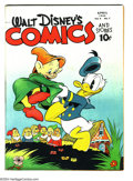 Golden Age (1938-1955):Funny Animal, Walt Disney's Comics and Stories #43 (Dell, 1944) Condition: VG/FN.Carl Barks art. Overstreet 2003 VG 4.0 value = $74; FN 6...