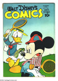 Golden Age (1938-1955):Funny Animal, Walt Disney's Comics and Stories #49 (Dell, 1944) Condition: VG-.Carl Barks art. Overstreet 2003 VG 4.0 value = $74. ...