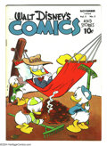 Golden Age (1938-1955):Funny Animal, Walt Disney's Comics and Stories #50 (Dell, 1944) Condition: VG/FN.Carl Barks art. Overstreet 2003 VG 4.0 value = $74; FN 6...