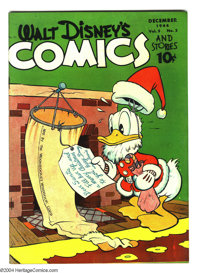 Walt Disney's Comics and Stories #51 (Dell, 1944) Condition: FN+. Carl Barks art. Overstreet 2003 FN 6.0 value = $75...