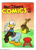 Golden Age (1938-1955):Funny Animal, Walt Disney's Comics and Stories #54 (Dell, 1945) Condition: VG/FN.Carl Barks art. Overstreet 2003 VG 4.0 value = $50; FN 6...