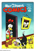 Golden Age (1938-1955):Funny Animal, Walt Disney's Comics and Stories #55 (Dell, 1945) Condition: GD/VG.Carl Barks art. Overstreet 2003 GD 2.0 value = $25; VG 4...