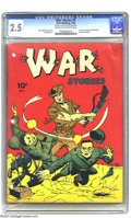 Golden Age (1938-1955):War, War Stories #5 (Dell, 1942) CGC GD+ 2.5 Cream to off-white pages. First issue. Dave Berg and Jack Keller art. Overstreet 200...