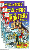 Bronze Age (1970-1979):Horror, Where Monsters Dwell #1 Group (Marvel, 1970) Condition: AverageFN/VF. Three copies of #1 are included here. Jack Kirby and ...(Total: 3 Comic Books Item)