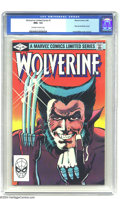 Modern Age (1980-Present):Superhero, Wolverine (limited series) #1 (Marvel, 1982) CGC NM+ 9.6 Off-whiteto white pages. First solo Wolverine comic. Frank Miller ...