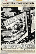 Original Comic Art:Splash Pages, Gene Colan and Tom Palmer - Tomb of Dracula #43 Splash PageOriginal Art (Marvel, 1976). Hmm, Paul Butterworth, the night st...