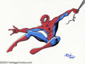 Original Comic Art:Splash Pages, JE Smith - Spider-Man Original Illustration (2004). Everybody'sfavorite Wall-Crawler makes good time in the skies above New...