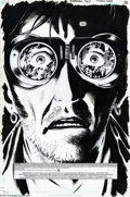 Original Comic Art:Splash Pages, Peter Snejbjerg - Starman #63 Splash Page Original Art (DC, 2000).Peter Snejbjerg renders dramatic details into Starman's g...