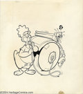 Original Comic Art:Covers, Marty Taras - Baby Huey The Baby Giant Cover Original Art (Harvey,circa 1960s). With a mighty puff, Baby Huey overinflates ...