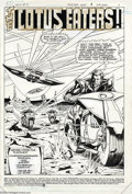 Original Comic Art:Splash Pages, Mark Texeira and Carlos Garzon - Hex #3 Splash Page Original Art(DC, 1985). Jonah Hex, while in the future, has traded his ...