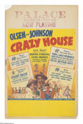 "Movie Posters:Comedy, Crazy House (Universal, 1943). Window Card (14"" X 22""). Universal produced this star-studded extravaganza with Olsen and Joh..."