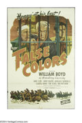 "Movie Posters:Western, False Colors (United Artists, 1943). One Sheet (27"" X 41""). BillBoyd is at it again as ""Hopalong"" Cassidy with his sidekick..."