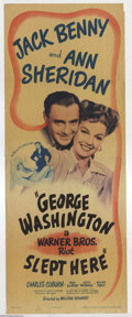 "Movie Posters:Comedy, George Washington Slept Here (Warner Brothers, 1942). Insert (14"" X36""). This comedy was based on a Moss Hart- George S. Ka..."