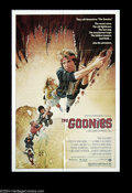 "Movie Posters:Adventure, Goonies (Warner Brothers, 1985). One Sheet (27"" X 41""). StevenSpielberg co-wrote the screenplay with Chris Columbus, of thi..."