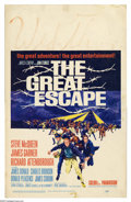 """Movie Posters:Adventure, Great Escape, The (United Artists, 1963). Window Card (14"""" X 22"""").Steve McQueen stars in WWII prison camp classic directed ..."""