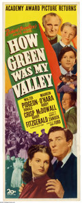 """Movie Posters:Drama, How Green Was My Valley (20th Century Fox, R-1946). Insert (14"""" X 36""""). John Ford's beautifully-filmed story of Welsh coal m..."""