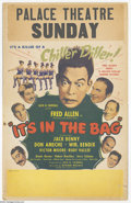 "Movie Posters:Comedy, It's in the Bag! (United Artists, 1945). Window Card (14"" X 22"").Fred Allen and Jack Benny star in this comedy with many ra..."