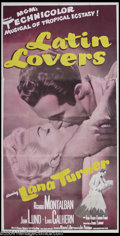"Movie Posters:Comedy, Latin Lovers (MGM, 1953). Three Sheet (41"" X 81""). Fernado Lamas was originally cast in the role that was played by Ricardo ..."