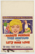 "Movie Posters:Comedy, Let's Make Love (Twentieth Century Fox, 1960). Window Card (14"" X22""). Marilyn Monroe stars in this George Cukor directed f..."