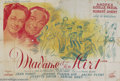 """Movie Posters:Comedy, Madame et Son Flirt (Les Films Lutetia, 1945). French (94"""" X 63""""). Beautiful art by Poissonnie on this magnificent large Fre..."""