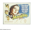 "Movie Posters:Drama, Mambo (Paramount, 1955). Half Sheet (22"" X 28""). This Italian produced dance film was directed by Robert Rossen, who directe..."