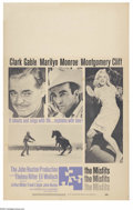 """Movie Posters:Comedy, Misfits, The (United Artists, 1961). Window Card (14"""" X 22""""). This sad and moving film based on an Arthur Miller screenplay ..."""