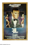 """Movie Posters:Action, Never Say Never Again (Warner Brothers, 1983). One Sheet (27"""" X41""""). Sean Connery returns in this, his last stint, as 007, ..."""
