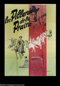 "Movie Posters:Western, Plunderers of Painted Flats (Republic, 1959). French (45"" X 62"").Pretty Boris Grisson art for this poster for a Republic fi..."