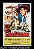 """Movie Posters:Western, San Antone (Republic, 1953). One Sheet (27"""" X 41""""). Pretty Republicone sheet for this tale of Texas in the 1870s. After the..."""
