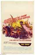 "Movie Posters:War, Train, The (United Artists, 1964). Window Card (14"" X 22""). BurtLancaster stars in this John Frankenheimer WWII thriller. V..."