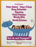 "Movie Posters:Comedy, What's New, Pussycat? (United Artists, 1965). French (22"" X 30"").Small French poster from the classic Woody Allen, Peter Se..."