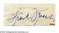 Autographs:Cut-outs, Frankie Frisch Cut-Signature PSA DNA/GAI Authenticated SMR ...