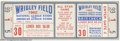 Baseball Collectibles:Tickets, Baseball 1962 Ticket All Star Game Wrigley Field NM+ ...