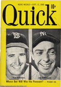 Baseball Collectibles:Publications, 1949-53 Quick Magazines Baseball Covers (3) Offered in ... (3items)