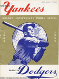 Baseball Collectibles:Publications, 1953 World Series Program SCD Standard Catalog of Sports ...