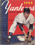 Baseball Collectibles:Publications, 1953 New York Yankee Sketch Book SCD Standard Catalog of ...