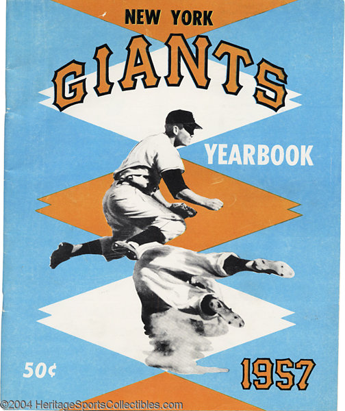 371f67a9 1957 New York Giants Yearbook SCD Standard Catalog of ... Baseball ...